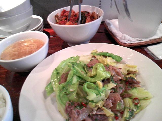 スジ肉の春野菜炒め